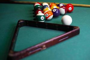 triangel och poolbollar foto