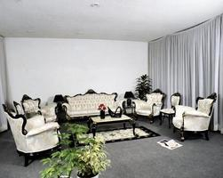 modern design matsal, sovrum, vardagsrum foto