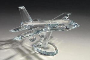 modell av kristallflygplan foto