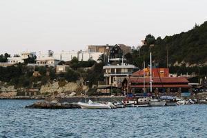 kalkonens vackraste stad karaburun staden izmir foto