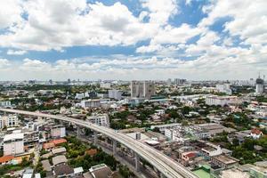 Bangkok, Thailand flygvy med skyline foto