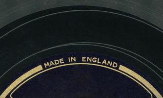 vinylskiva tillverkad i england foto