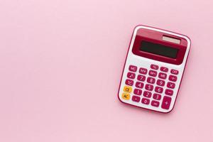 top view notebooks calculator setup foto
