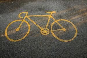 cykelväg av tecken foto