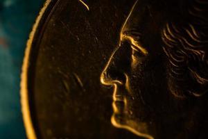 amerikansk en fjärdedel mynt foto