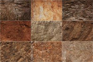 stenytor av olika texturer foto