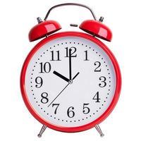 röd väckarklocka visar exakt tio foto