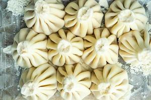 georgiska khinkali dumplings foto