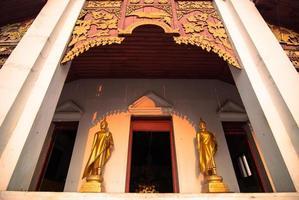 wat, tempel, nan, thailand. foto