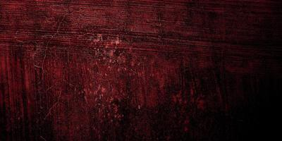 röd och svart skräckbakgrund. mörk grunge röd textur betong foto
