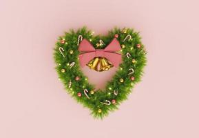 julkrans i form av ett hjärta foto