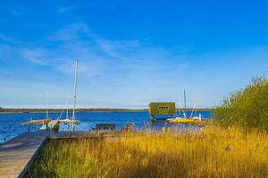 Bad Bederkesa -sjön i Niedersachsen, Tyskland foto