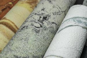 uppsättning olika dekorativa stenar för design, interiör och exteriör foto
