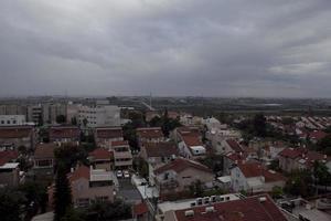 fantastiska stadsbilder i Israel, utsikt över det heliga landet foto