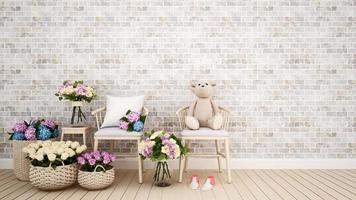 vardagsrum eller barnrumsdekorationsblomma foto