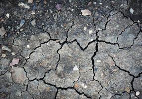 färgglad yta av torr lera med sprickor foto