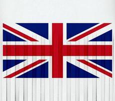 riven flagga i Storbritannien foto