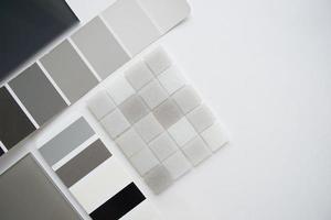 layout av materialprover, val av material, urval foto