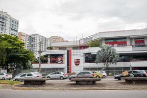 Rio de Janeiro, Brasilien, 2015 - Flamengo Regatta Clubs huvudkontor foto