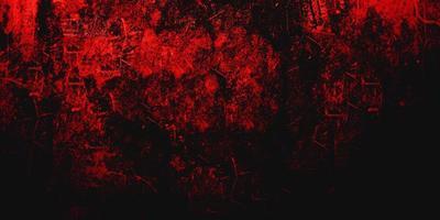 röd läskig bakgrund. mörk grunge röd konsistens betong foto
