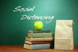 tema för nedläggning av skolan baserat på karantänskyddsåtgärder foto