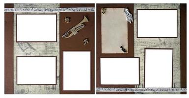 handgjorda papper klippbok sidor att infoga dina bilder i foto