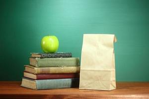 grön tillbaka till skolan tema bakgrundsbild foto