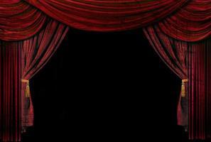 gammaldags, eleganta teaterscene draperier foto
