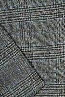 detalj närbild närbild av kostym jacka colar foto