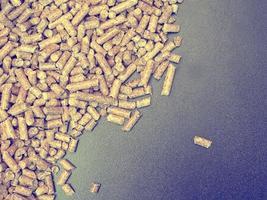 konsistens av pellets i trädgården foto