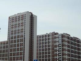 nybyggnation av ett nytt bostadskomplex foto
