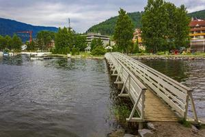 vesleoye island nature in town fagernes fylke innlandet norge. foto
