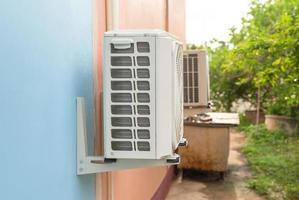 kondenseringsenhet för luftkonditioneringssystem. foto