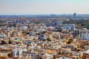 Flygfoto över södra Tel Aviv stadsdelar foto