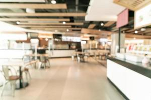 abstrakt oskärpa mat domstol i köpcentrum för bakgrund foto