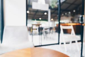 abstrakt oskärpa kafé och kafé för bakgrund foto