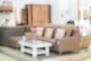 oskärpa bild av modernt vardagsrum interiör för bakgrund foto