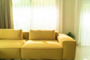 abstrakt oskärpa modernt och lyxigt vardagsrum för bakgrund foto