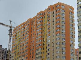 nya byggnader byggs bostadshus foto