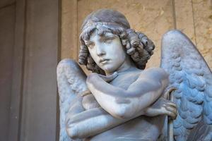 ängel på Genua kyrkogård foto