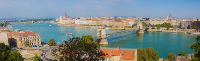 panorama över staden Budapest, Ungern foto