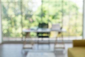 abstrakt oskärpa och arbetsutrymme hemma foto