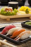 sammansättningen av nigiri sushi