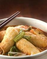 curry laksa nudlar foto