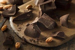 organiska mörka chokladbitar
