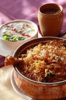 hyderabadi biryani - en populär kyckling eller fårkött baserad foto
