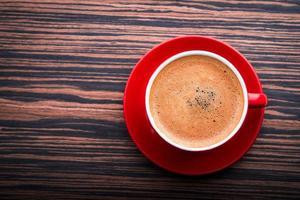 kopp med latte foto