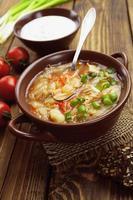 soppa med kål och kött foto