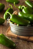 ekologiska gröna paprika foto