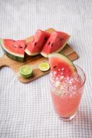 vattenmelon drink foto